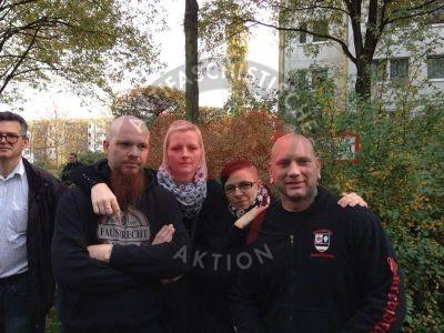 Sven Neubauer, Anja N, Nicole H und Patrick Kr�¼ger - DIE RECHTE Berlin
