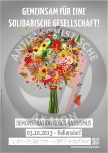 Einladung zur Antirassimus-Demonstration durch Hellersdorf
