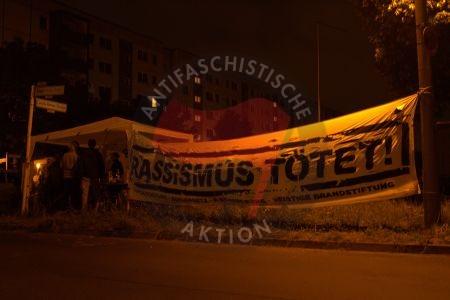 Mahnwache in Hellersdorf