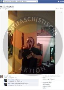 Michaela N mit Spielzeugwaffe gegen Asyl