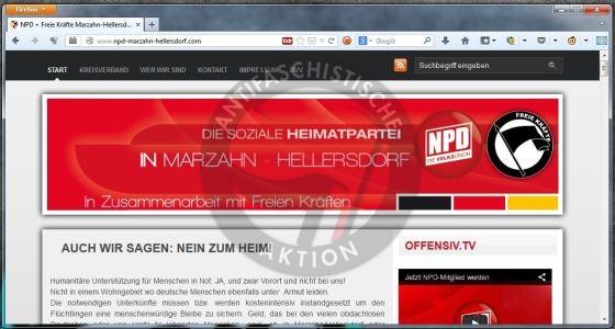 Screenshot NPD Marzahn-Hellersdorf
